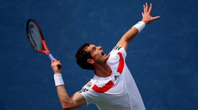 Third seed Murray hit 42 winners past the 47th ranked German [AFP]
