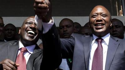 Charges against President Kenyatta (R) and Vice President Ruto are related to political violence in 2007 [Reuters]