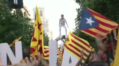 Catalonians get ready for independence rally