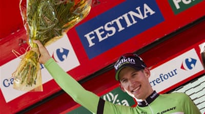 Mollema edged Norway's Hagen by just metres at the finish line [AFP]