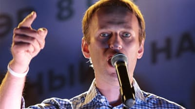 Navalny called on supporters to rally peacefully to protest against the election results [Reuters]