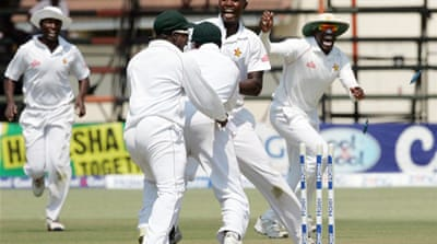 It was Zimbabwe's first win over Pakistan since 1998 and first over a top Test nation for over a decade [AFP]
