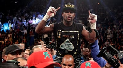 Mayweather walked away with $41.5m further enhancing his reputation as the best boxer in the world [AFP]