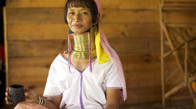 Myanmar's neck ring women