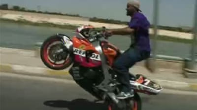 Motorcycling booms in Baghdad