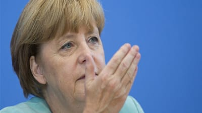 "German Chancellor Angela Merkel ""is generally seen as shrewd, pragmatic in the extreme and lacking any long-time vision"", writes Kai Arzheimer [AP]"