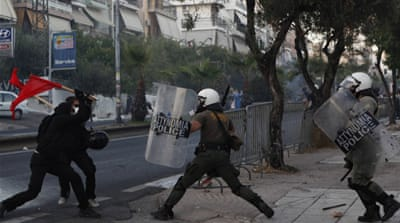 Singer's killing spurs violence in Greece