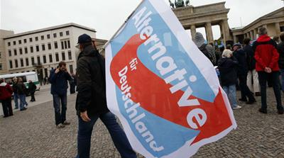 Alternative for Germany (AfD) won 12.6 percent of the vote in the German election [Fabrizio Bensch/Reuters]