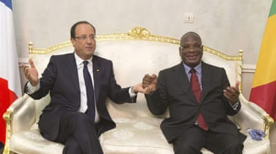 Keita will meet Hollande on Tuesday morning and then return to Mali, two days early [Reuters]
