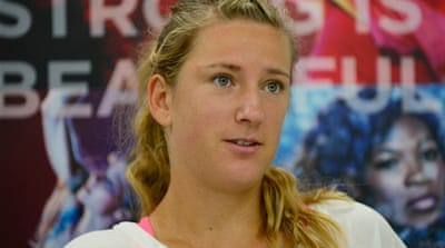 Azarenka called her 7-5, 6-7, 6-1 defeat at the US Open a 'learning experience' [AFP]