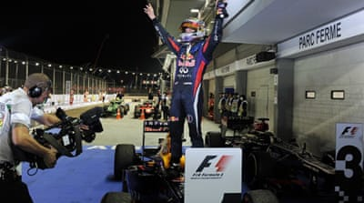 The win gives the German a 60-point lead over rival Alonso with six races to go [AFP]