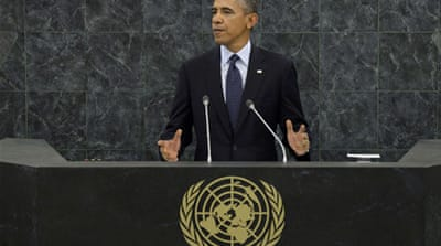 Obama also demanded that the world take action on Syria, speaking at the 68th UN General Assembly [Reuters]