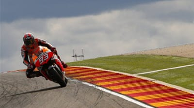 The 20-year-old set a flying lap of 1:47.804 at the Aragon circuit [AFP]