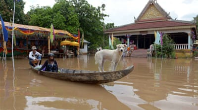 Prime Minister Yingluck Shinawatra has visited several areas hit hard by the floods [Reuters]