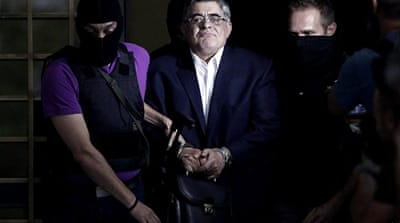 The arrest of Golden Dawn's leadership was prompted by the September 18 murder of a leftist rapper [AFP]