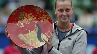 The win was Kvitova's second WTA title of the year following her success in Dubai in February [EPA]