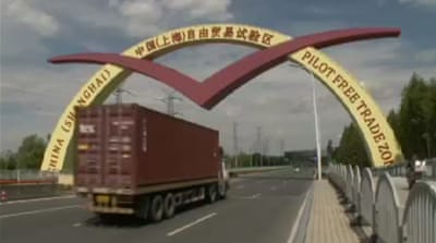 China pins hope on new free-trade zone