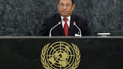 "Myanmar's Foreign Minister Wunna Maung Lwin told UN there ""are always people who wish to rock the boat"" [Reuters]"