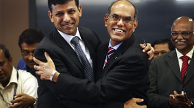 Rajan, left, renowned for predicting the 2008 global financial crisis, took over from Duvvuri Subbarao [Reuters]