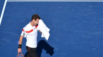 Murray has lost twice to Wawrinka this year, having fallen in a last-16 clash on clay at the Monte Carlo Masters [AFP]