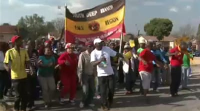 South African miners protest over wages