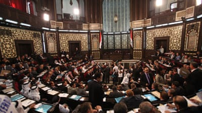 "Syria's parliament asks US Congress to not ""take reckless measures"" against Syria through military strikes [EPA]"