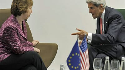 Kerry pushes EU for support on Syria strikes