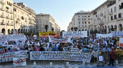 Stringent austerity measures have failed to revive the Greek economy, spurring protests [AFP]