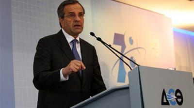 Samaras said that Greece's economy by 2020 will reach pre-crisis levels of prosperity [AFP]