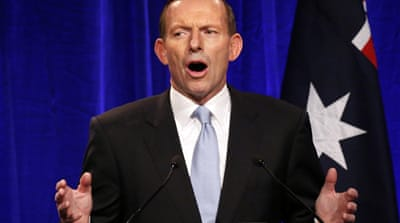 "Abbott pledged to end ""the age of entitlement"" that he says has created an unsustainable spending [Reuters]"
