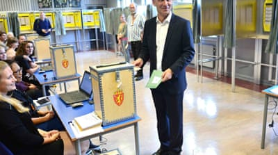 Prime Minister Jens Stoltenberg's ruling coalition has been trailing in opinion polls for months [Reuters]