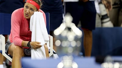 Serena downed Azarenka in a thrilling two-hour 45-minute final at Flushing Meadows on Sunday [AFP]