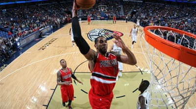 LaMarcus Aldridge had 14 rebounds to add to the 25 points he scored in Portland's win [AFP]