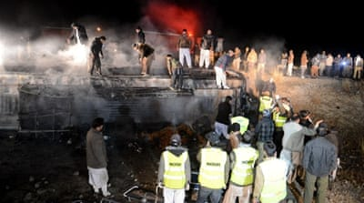 The bus bombing near Quetta is the latest in a long line of attacks on Pakistani Shia [AFP]