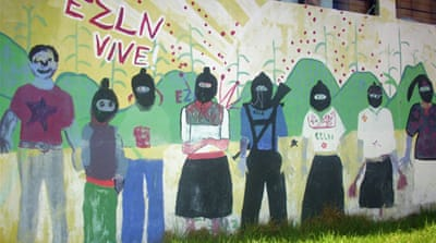 The Zapatista uprising coincided with the launch of the 1994 North American Free Trade Agreement [AFP]