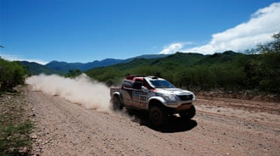 Dutch driver Erik Van Loon compete during the Stage 6 between Tucuman and Salta, Argentina [AFP]