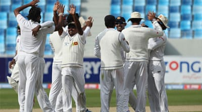 Sri Lanka beat Pakistan in the second Test at the Dubai Sports City Cricket Stadium [Getty Images]