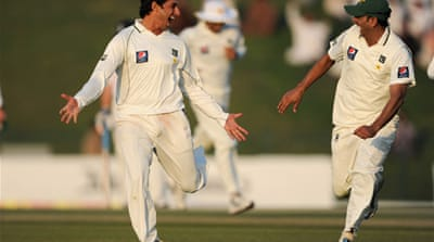 Saeed Ajmal (left) looks set to be partnered by Abdur Rehman for the third Test of the series [Getty Images]
