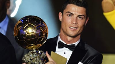 Ronaldo's Ballon d'Or win broke a sequence of four consecutive wins for Lionel Messi [EPA]