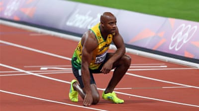 Asafa Powell, who tested positive at the Jamaican Championships in 2013, ahead of his hearing [Reuters]