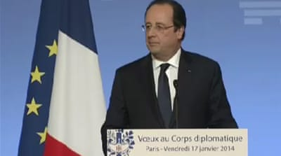 Allegations not disrupting Hollande's work