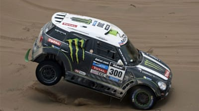 Stephane Peterhansel and Jean Paul Cottret for Mini Monster Energy X-Raid Team on stage 12 [Getty Images]