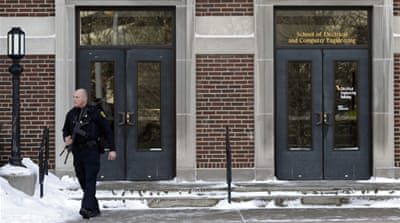 Tuesday's attack on the Purdue University campus came after two school shootings in the US last week [AP]
