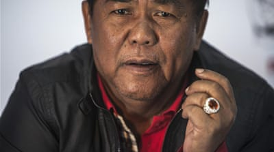 Kwanchai Praipana, who leads thousands of pro-government supporters in Udon Thani [Reuters]