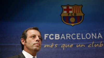 Rosell had won the presidency with 35,021 votes, more than any other man in the club's history [Reuters]