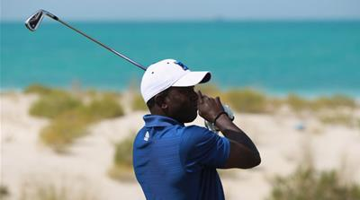 Dwight Yorke has been mastering his new sport in Qatar after retiring from football [Getty Images]