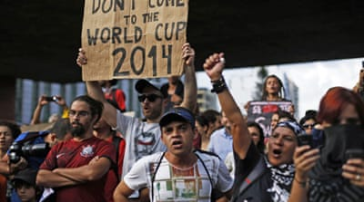 Brazil World Cup protests turn violent