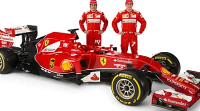 The new Ferrari which as been dubbed by some the 'anteater' [AFP]