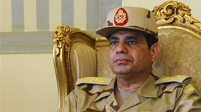 Cairo has seen huge rallies supporting Egypt's army chief, General Abdel Fattah el-Sisi, in recent days [Reuters]