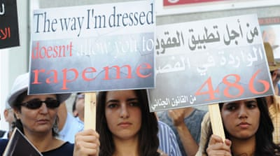 Moroccan teenagers protest an alleged child rape in Casablanca, Morocco, in May 2013 [EPA]